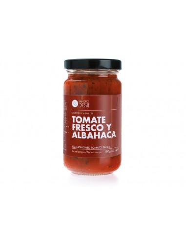 Salsa de tomate fresco y albahaca